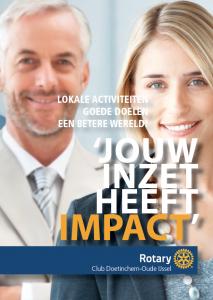 Jouw inzet heeft impact. Rotaryclub Doetinchem-Oude IJssel